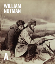 Book cover featuring a photograph of two 19th century hunters and the title William Notman