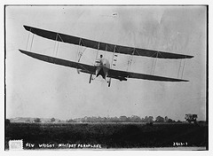 """New Wright Military Aeroplane"".  March 15, 1915.  Photograph. Web. Flickr Commons--Library of Congress.  8 September 2014."