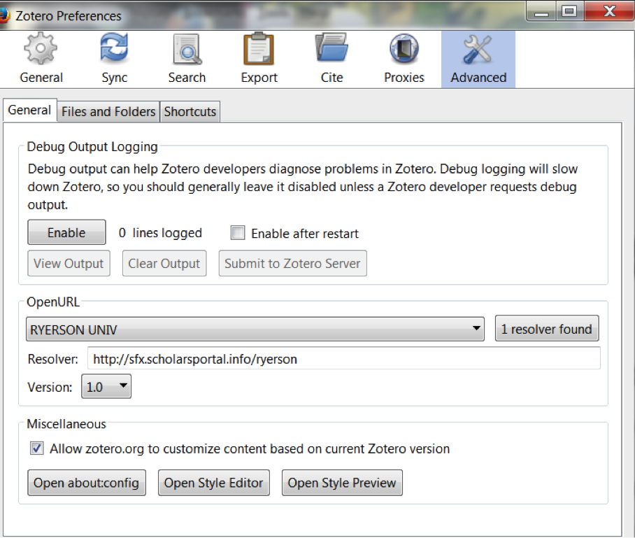 Zotero zotero managing your sources research guides at ryerson use rulas library lookup tool go to the advanced tab in your zotero preferences and add ryerson univ as an openurl library lookup ccuart Images