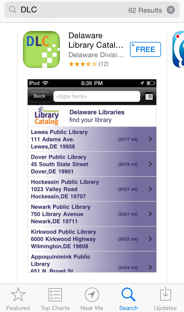 The Delaware Library Catalog App