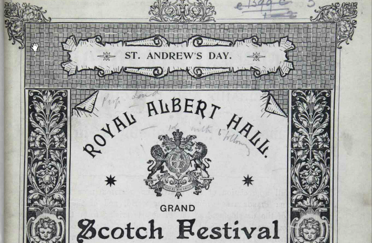 Picture of old concert programme