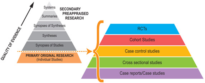 Primary sources for evidence-based research