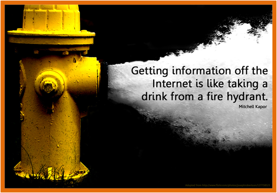 Getting information off the internet is like taking a drink from a fire hydrant
