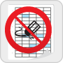 Calendar icon with do not erase icon on top
