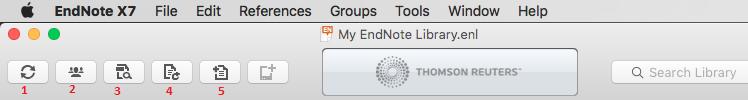 Endnote Mac Toolbar