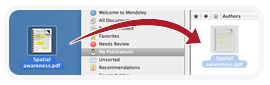 Drag and drop files into Mendeley image