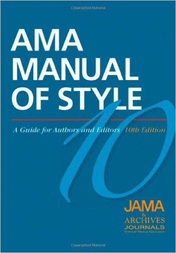 Book cover: AMA manual of style