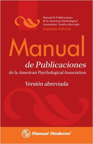 Book cover: Manual de publicaciones: version abreviada