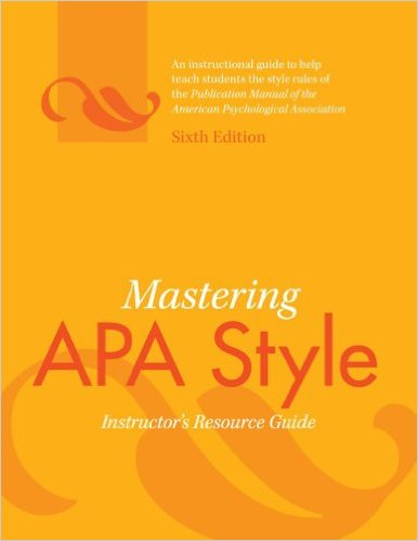 Book cover: Mastering APA style 6th edition