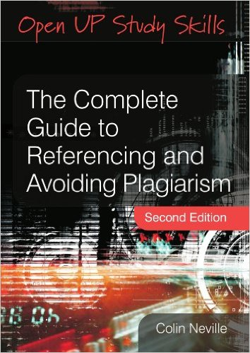 Book cover: The complete guide to referencing and avoiding plagiarism