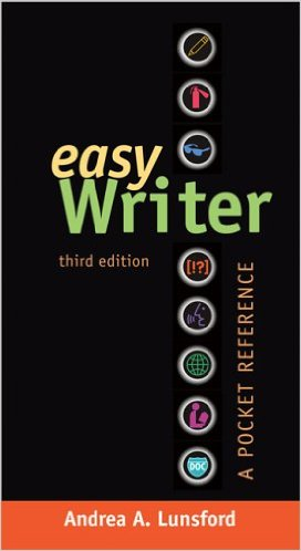 Book cover: Easy writer third edition