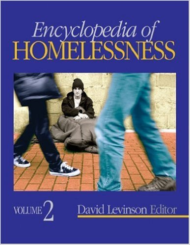 Book cover: encyclopedia of homelessness