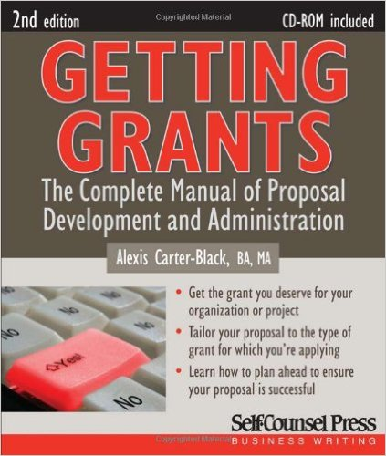 Book cover: getting grants