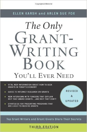 Book cover: the only grant-writing book you'll ever need