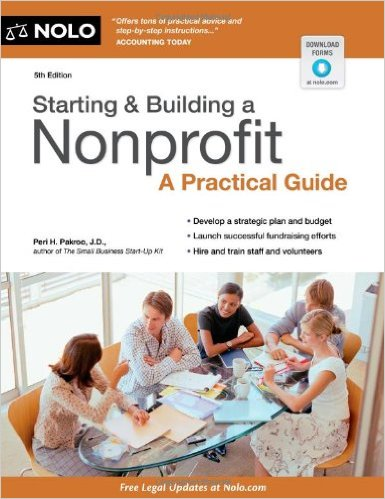 Book cover: starting and building a nonprofit