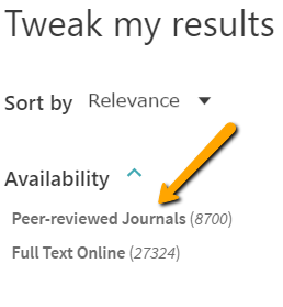 Screenshot of catalog peer review button