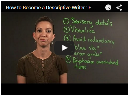 descriptive writing video