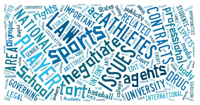 topics  keywords - ess 309  legal aspect of sport