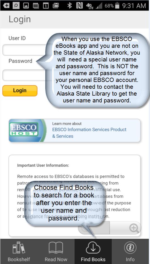 Authenticate into EBSCO eBooks