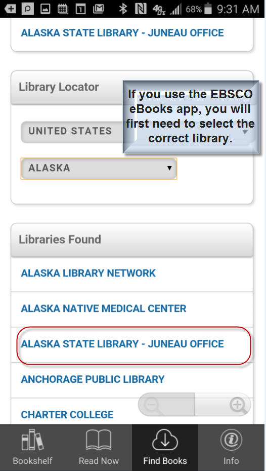 Selecting your library