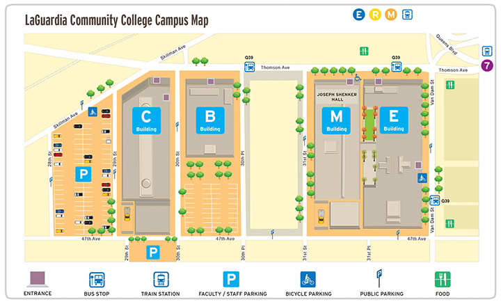 Cuny Campus Map.Finding Your Way Around Laguardia Student Success First Year
