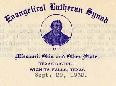 Letterhead from stationery in the online archival collection of Concordia University Texas