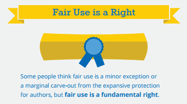 Fair use is a right
