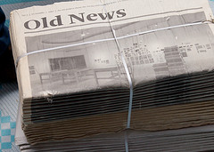 """Old news"" newspaper"