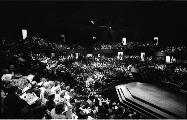 Audience, Guthrie Theater opening, May 8th, 1963.