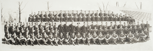 Japanese-American soldiers and officers of the Military Intelligence Service Language School in Savage, at Fort Snelling.