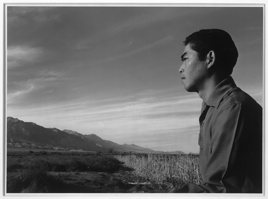Tom Kobayashi, Manzanar Relocation Center, California photograph by Ansel Adams.