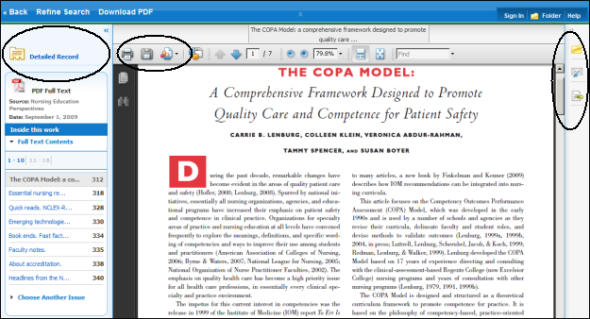 An article on the screen.