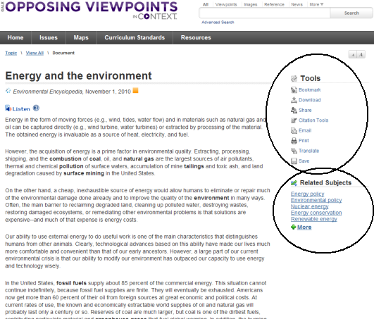 How Do I Use Gale Opposing Viewpoints In Context  Get Answers Reading An Article In Opposing Viewpoints