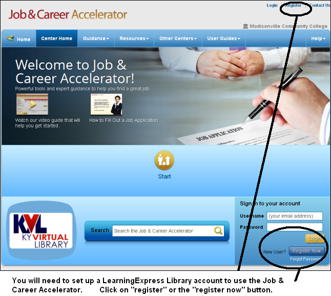 Accessing the Job & Career Accelerator in the LearningExpress Library