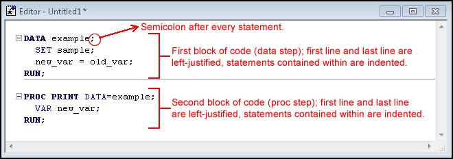 SAS Syntax Rules - SAS Tutorials - LibGuides at Kent State