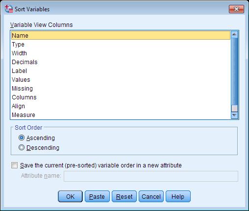 sorting data spss tutorials libguides at kent state university