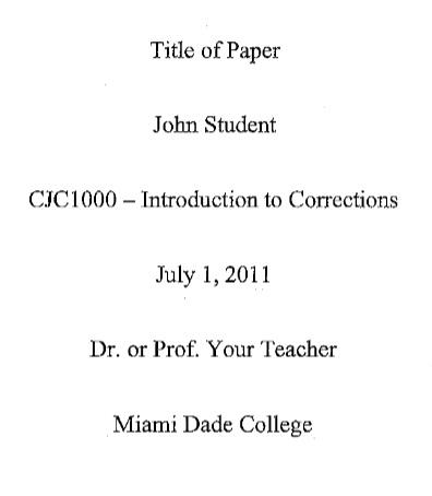 criminal justice apa paper