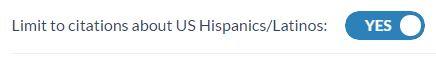 HAPI - Limit to US Latinos button