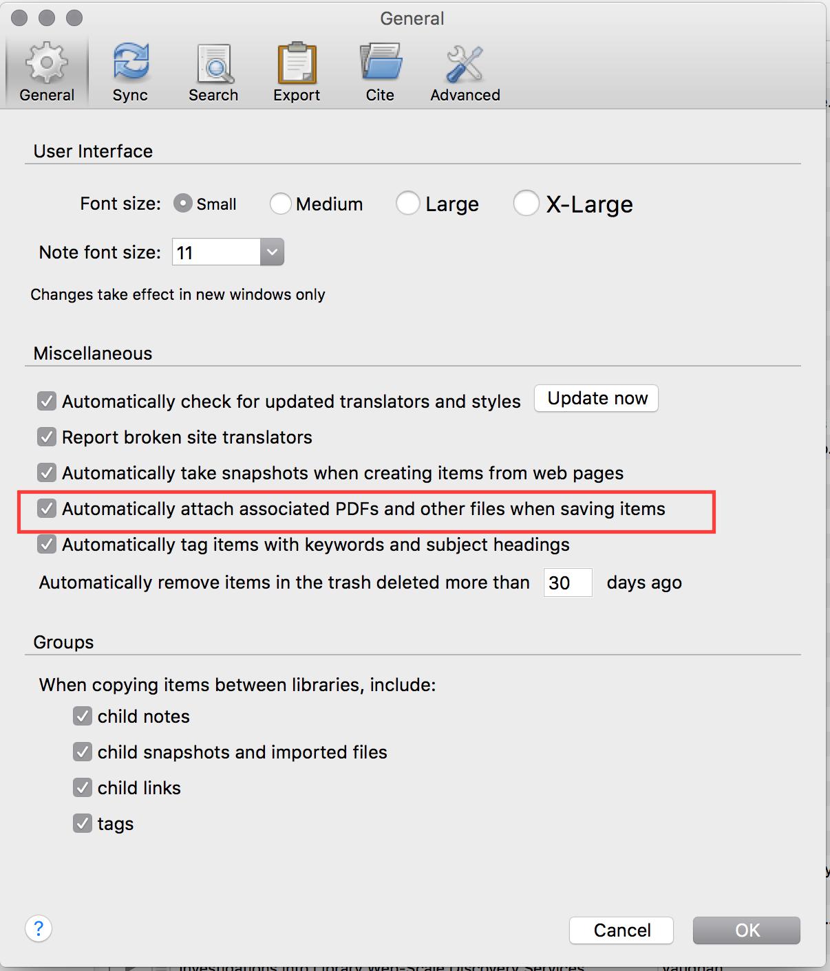Configuring Zotero Zotero Collect Organize Cite And Share Your