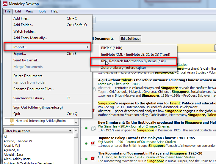 export references from endnote to mendeley