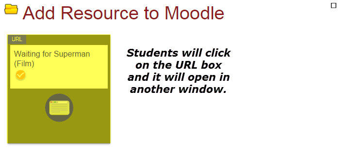 Add link in Moodle: Final view students see