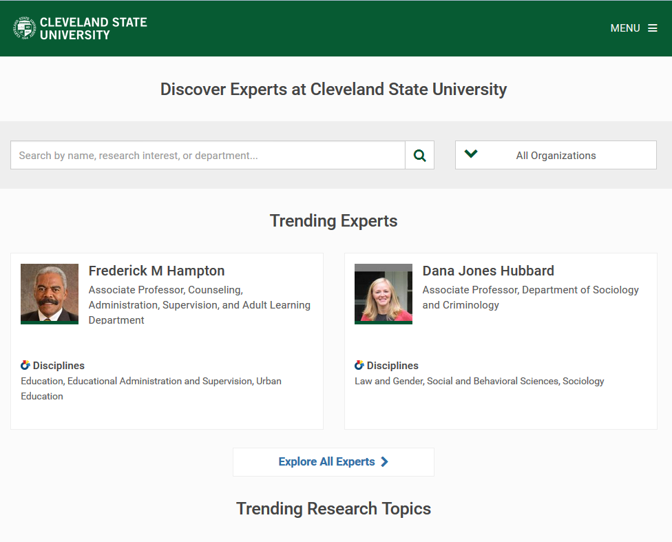 Experts at CSU screenshot