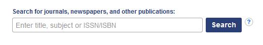 Periodical Finder Search Box Screenshot