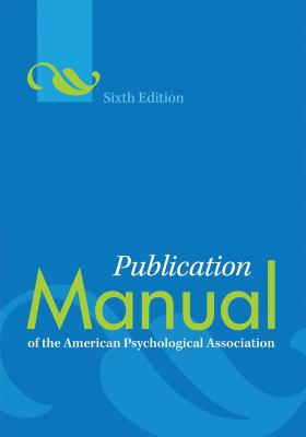 Publication Manual of the American Psychological Association Book Cover