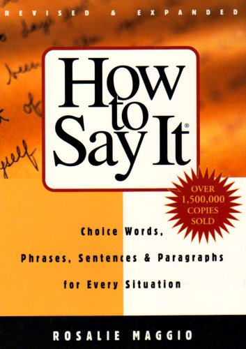 How to Say It Book Cover
