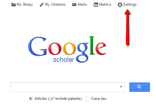 Google Scholar Settings Screenshot