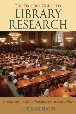 The Oxford Guide to Library Research Book Cover