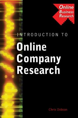 Introduction to Online Company Research Book Cover