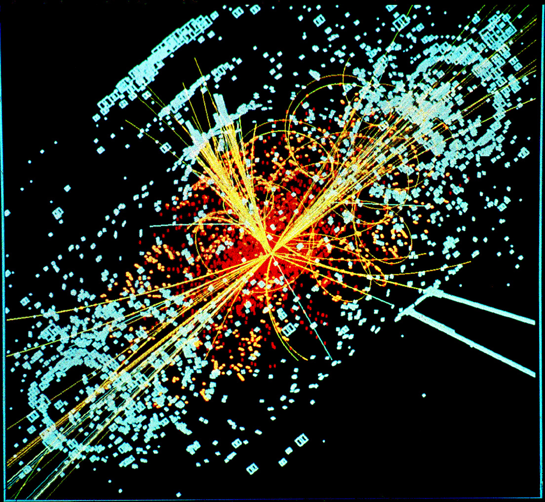 Simulated data model of Higgs event.