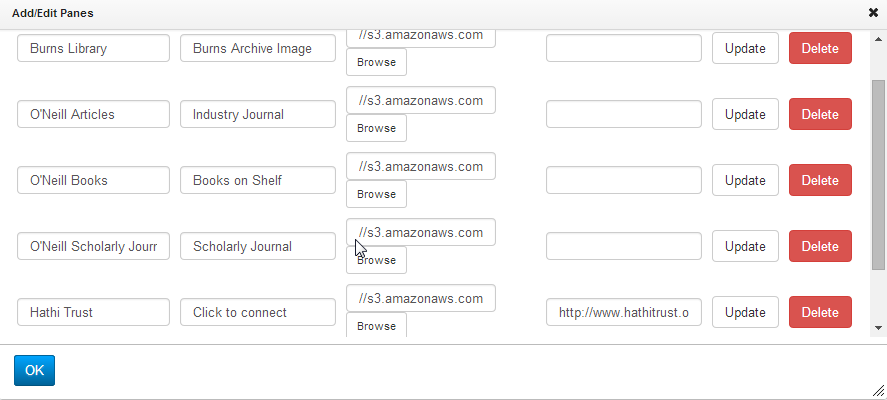 Screenshot of LibGuides 2.0 Gallery image url input box